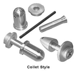 Collet Style Electric Prop Nuts
